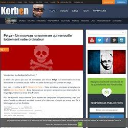 Petya - Un nouveau ransomware qui verrouille totalement votre ordinateur