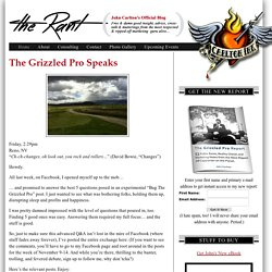 The RANT - John Carlton's Official Blog