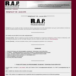 RAP@Toile N° 126 – Janvier 2016