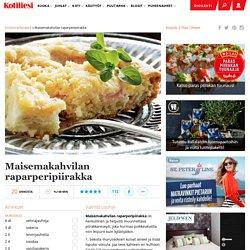 Maisemakahvilan raparperipiirakka - Kotiliesi.fi