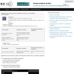 Rapatrier des documents des tablettes «élèves» sur la tablette «enseignants»