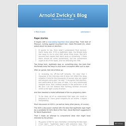 Rape stories « Arnold Zwicky's Blog