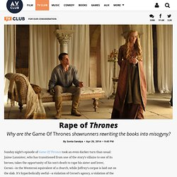 Rape of Thrones · For Our Consideration