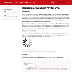 Raphaël: a JavaScript API for SVG