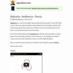 Raphael.js + Backbone.js + Traer.js