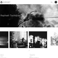 Raphaël Tachdjian est représenté par School Gallery Paris