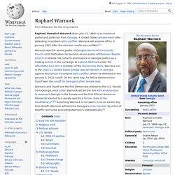 Raphael Warnock - 1st Black Senator Elected from Georgia