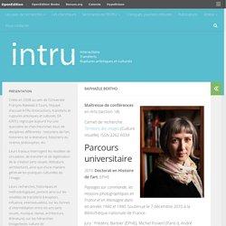 Raphaële BERTHO – InTRu – EA 6301