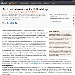 Rapid web development with Bootstrap