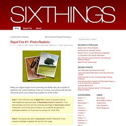 Rapid Fire #1: Photo-Realistic « SixThings