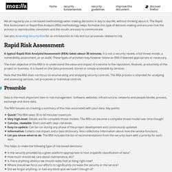 Rapid Risk Assessment (RRA)
