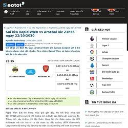 Soi kèo Rapid Wien vs Arsenal lúc 23h55 ngày 22/10/2020