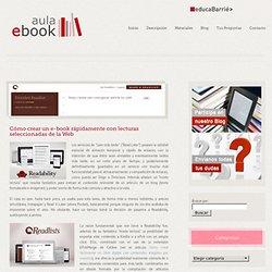 aula e-book – Cómo crear un e-book rápidamente con lecturas seleccionadas de la Web