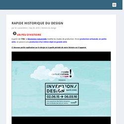 Rapide historique du design