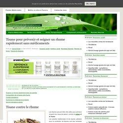 Tisane pour prévenir et soigner un rhume rapidement sans médicaments