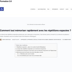 Comment tout mémoriser rapidement avec les répétitions espacées – Formation 3.0