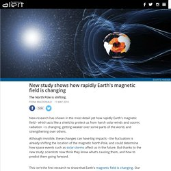 New study shows how rapidly Earth's magnetic field is changing