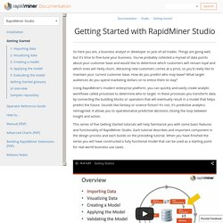 Getting Started with RapidMiner Studio - RapidMiner Documentation