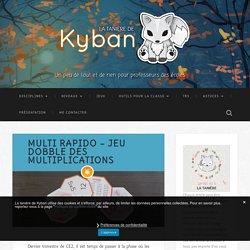 Multi Rapido - jeu Dobble des multiplications - La tanière de Kyban