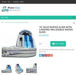 18' Wild Rapids Slide With Landing Inflatable Water Slide
