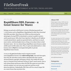 RapidShare/DDL Forums - A Great Source For Warez
