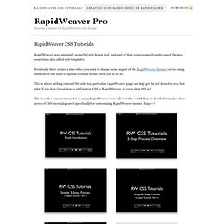 RapidWeaver Pro — Become a master of RapidWeaver web design