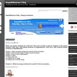 RapidWeaver FAQ - Popup windows
