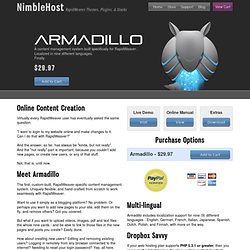 Armadillo CMS for RapidWeaver by NimbleHost
