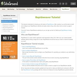 Rapidweaver Tutorial - Rapidweaver installation, Rapidweaver configuration, Blog with RapidWeaver, Photo Album with RapidWeaver, Contact us page with RapidWeaver.