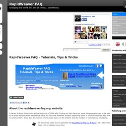 RapidWeaver FAQ - Tutorials, Tips & Tricks
