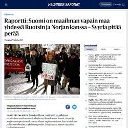 Raportti: Suomi on maailman vapain maa yhdessä Ruotsin ja Norjan kanssa – Syyria pitää perää