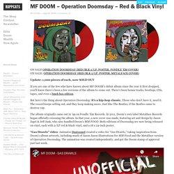» MF DOOM – Operation Doomsday – Red & Black Vinyl