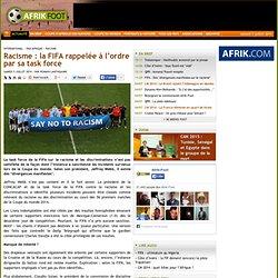Racisme : la FIFA rappelée à l'ordre par sa task force