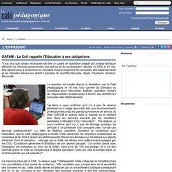 GAFAM : La Cnil rappelle l'Education à ses obligations