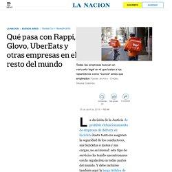 Qué pasa con Rappi, Glovo, UberEats y otras empresas en el resto del mundo