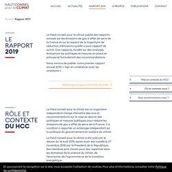 Rapport 2019 — Haut Conseil pour le Climat
