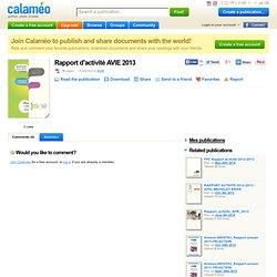 Rapport d'activité AVIE 2013