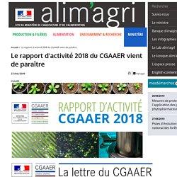 MAA 27/06/19 Le rapport d'activité 2018 du CGAAER vient de paraître