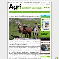 AGRIHEBDO_CH 17/11/20 Le rapport agricole 2020 est disponible en ligne