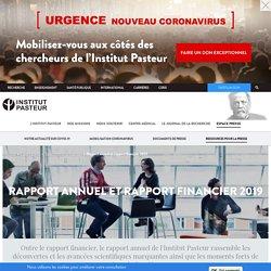 INSTITUT PASTEUR - JUIN 2020 - Rapport annuel et rapport financier 2019