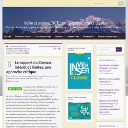 Le rapport du Cnesco : intérêt et limites, une approche critique. – Veille et analyse TICE, partage, approche critique