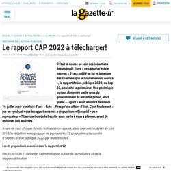 Le rapport CAP 2022 à télécharger!