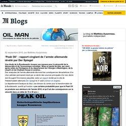'Peak Oil' : rapport cinglant de l'armée allemande révélé par Der Spiegel