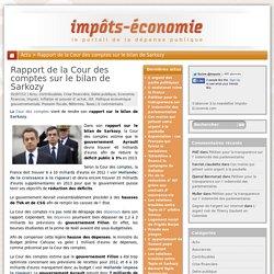 Rapport Cour des comptes bilan Sarkozy