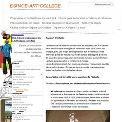 Rapport d'échelle - espace-art-college