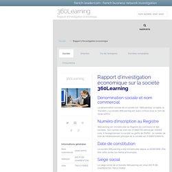 Rapport économique sur la société 360Learning