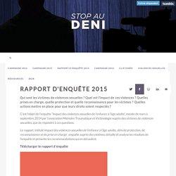Rapport d'enquête 2015