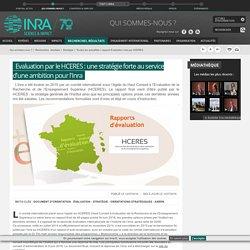 INRA 12/07/16 Evaluation par le HCERES : une stratégie forte au service d'une ambition pour l'Inra (rapport final)