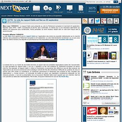 ACTA : Le rapport Gallo présenté le 20 au Parlement européen