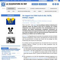 Un rapport de l'ONU tacle le G8, l'ACTA, Hadopi, Loppsi